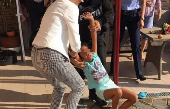 Caz revoltator in jud. Mehedinti. Fetita de 9 ani, luata cu forta din familia in care a crescut si dusa in America / VIDEO