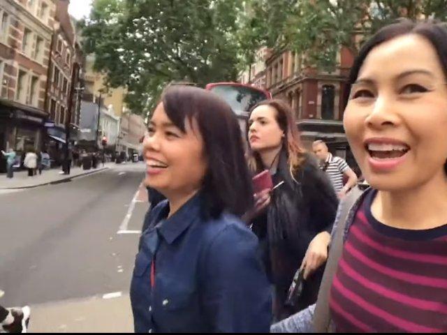 O turista a inregistrat, fara sa vrea, momentul cand este buzunarita de trei femei in Londra / VIDEO