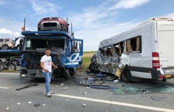 Accident rutier cu 19 victime in judetul Olt. A fost activat planul rosu de interventie