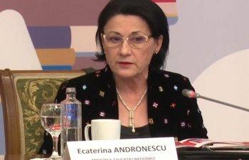 Andronescu: Anul acesta o sa pornim digitalizarea, o sa facem un salt in cresterea calitatii procesului de predare