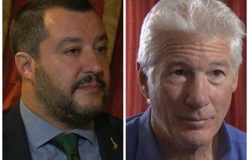 Salvini il invita pe Richard Gere sa-i gazduiasca in vilele sale pe cei 160 de migrantii blocati pe o nava
