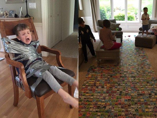 10+ fotografii care dovedesc ca fratii mai mici sunt o provocare continua