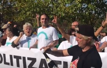 Protestatarii aflati in fata Parlamentului sarbatoresc cu sampanie caderea Guvernului Dancila