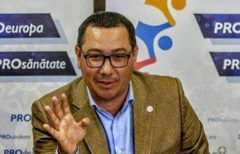 Ponta anunta ca Pro Romania nu va vota Guvernul PNL