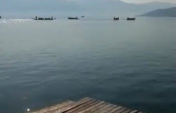 O barca in care se aflau 20 de copii s-a rasturnat in Dunare, in timpul unei competitii sportive/ VIDEO