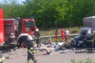 Un nou accident pe autostrada din Ungaria. Un roman a murit / VIDEO