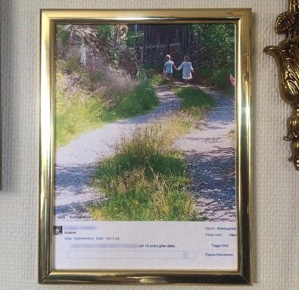 O femeie a printat o imagine...