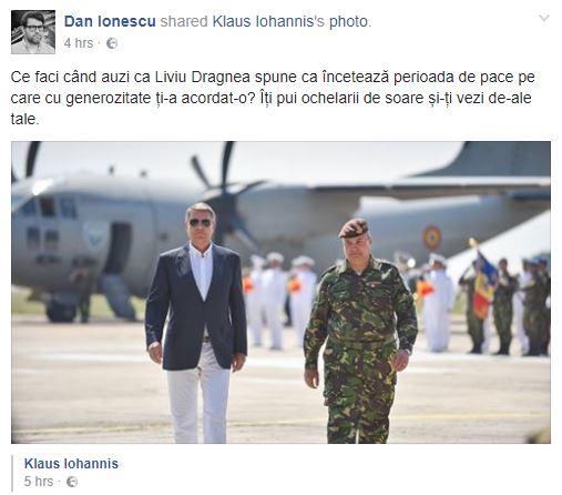 Vizita lui Iohannis la baza militara Mihail Kogalniceanu a starnit imaginatia internautilor