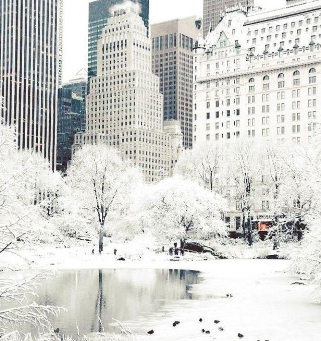 New York, inghetat