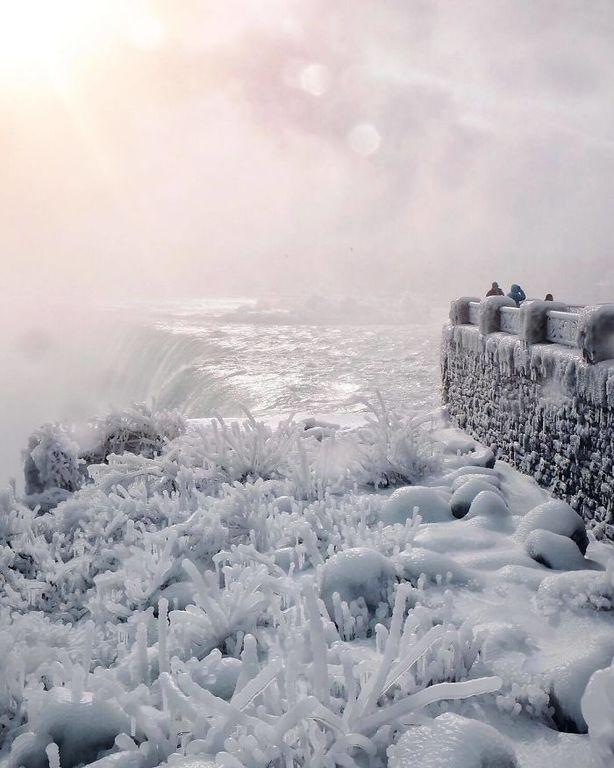 Cascada Niagara inghetata