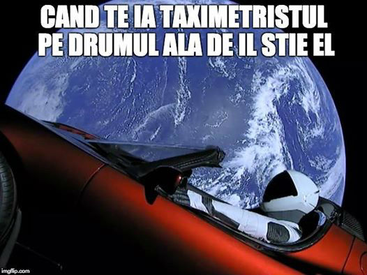 Cele mai bune glume despre lansarea masinii Tesla in spatiu