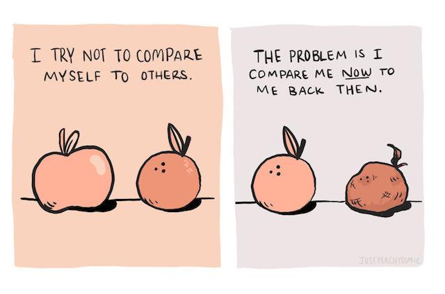 Te compari mereu cu cel care...