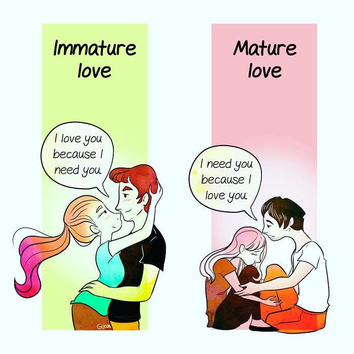 Dragoste imatura vs dragoste...