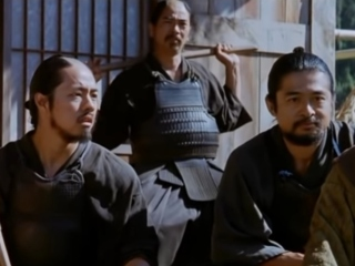 Parul prins in coada la samurai